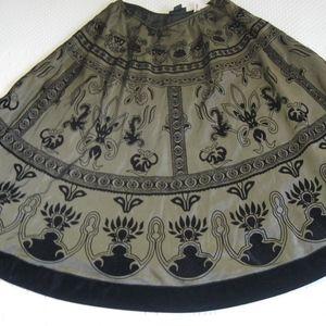 Vintage  cut velvet skirt